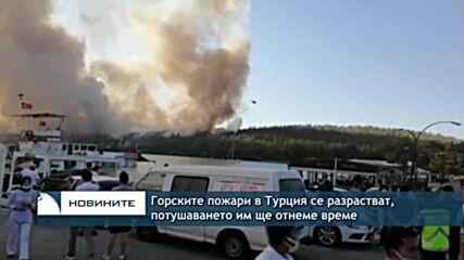 Горските пожари в Турция се разрастват, потушаването им ще отнеме време