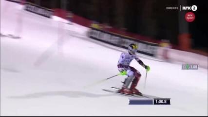 Дрон падна на метър от скиор на слалом от Световната купа