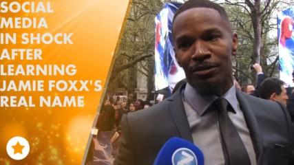 Феновете са шокирани от истинското име на Джейми Фокс