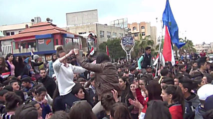Syria: Hundreds protest Trump's recognition of occupied Golan Heights as Israeli