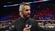 main event 17th june, 2014 seth rollins has an announcement for mitb and is confronted by dean ambro