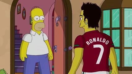 Кристияно Роналдо в Семейство Симпсън