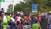 Serbia: 'Shame on Europe!' Refugees protest border closure at Hungarian frontier