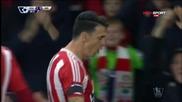 Попадението на Фонте за 3:0 за Саутхемптън срещу Арсенал