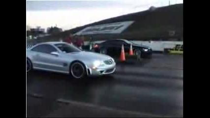 Bmw M6 Vs Mercedes Sl65 Amg Drag