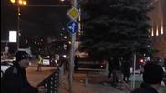 След Лудогорец - Лацио. Златински гони автобуса.