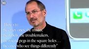 10 - те най вдъхновяващи цитати на Стив Джобс - R. I. P.