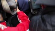 Журналисти блокираха автобуса на ЦСКА, Пенев все пак говори