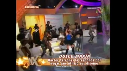 Dulce Maria responde al disenador Hector Terrones (nx)