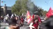 Моментът на експлозията в Анкара на мирния митинг в събота, 10.10.2015 г.