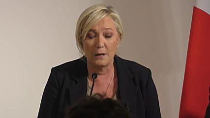France: Le Pen renews her pledge to immigration referendum in Paris