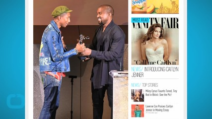 Kanye West Surprises Pharrell Williams by Presenting Him With the Fashion Icon Award at the CFDAs!