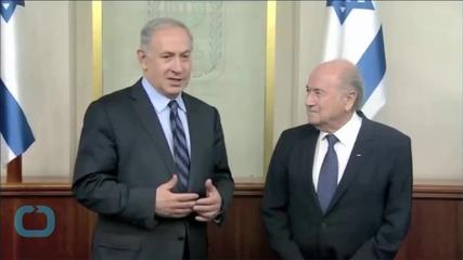 Fifa President Israel Vs. Palestine Match