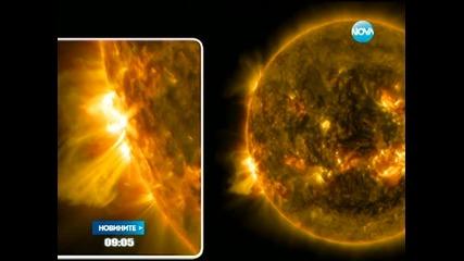 Две слънчеви изригвания за два часа - Новините на Нова