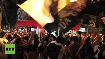 Сблъсъци между полицията и фенове на Вашку Да Гама в Бразилия