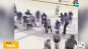 Бой на леда: Как децата в Канада играят хокей?