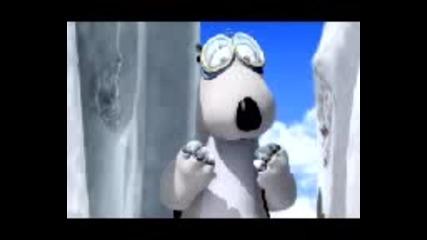 funny bear - ice clyming