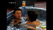 Манол пиян в джакузито, признава че обича Иванина Big Brother4 (30 10 08)
