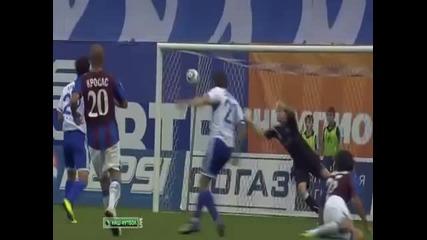 Динамо Москва 2-0 Волга (всички голове)
