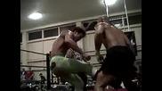 Лоу Ки срещу Даниелс срещу Спанки срещу Дъг Уилямс Iron Man Match Roh Crowning A Champion 2002
