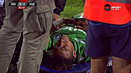 Анисе се контузи лошо, откараха го с линейка