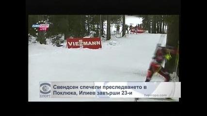 Свендсен спечели преследването в Поклюка, Илиев завърши 23-и