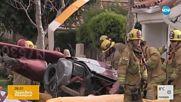 Хеликоптер падна върху къща, трима загинаха