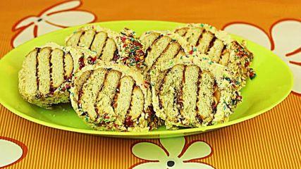 Сладък салам от бисквити