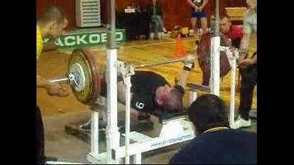 Слави 165кг - републикански рекорд в категория до 60кг.