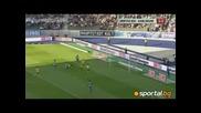 Домо с гол при разгром на Херта над Карлсруе с 4 - 0