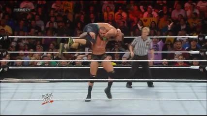 Randy Orton & John Cena си крадат финишерите (royal Rumble 2014)