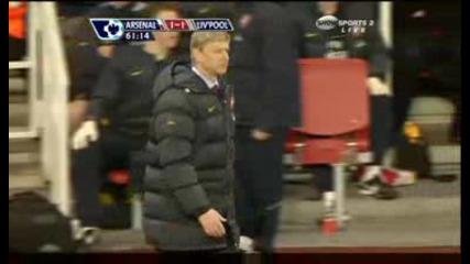 Адебайор, червен картон. Арсенал - Ливърпул 1:1