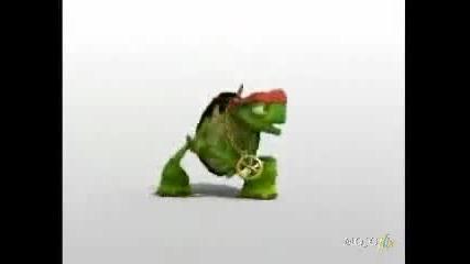 Гледането Задължително - Dancing And Singing turtle - Gasolina