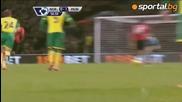 Норич Сити 0-1 Манчестър Юнайтед