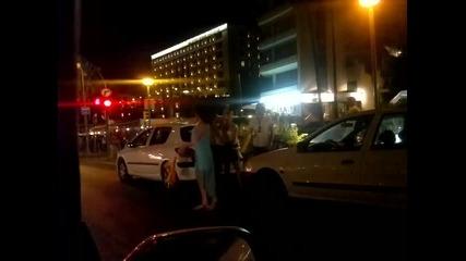 euphoria sled macha Ispaniq-italiq po ulicite na Mallorca