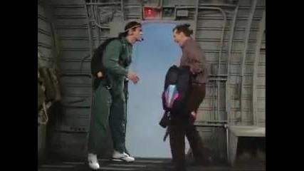 Ал Бънди скача от самолет - Смях