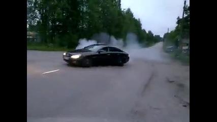 Burnout с Mercedes
