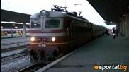 Син влак за Цска на път за Микрево