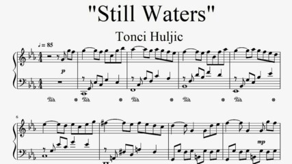 """Still Waters"" - Tonči Huljić (piano sheet music)"