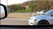 Киха и се изстрелва - Mitsubishi Lancer Evo