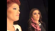 X Factor Ана - Мария и Жана Бергендорф зад кулисите Live концерт - 05.12.2013 г