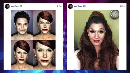 Male Makeup Artists Transforms Himself Into Kim K, Kylie & Ariana