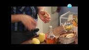 Гъбени бургери, мармалад от лук, пуешко под картофена коричка - Бон Апети (06.03.2013)