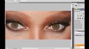 Photoshop Cs5 Tutorial - Как да сменим очите на избрана снимка