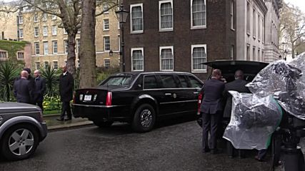 UK: Cameron and Obama depart following Downing Street talks