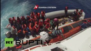 Mediterranean Sea: 300 migrants and refugees picked up by Italian Coast Guard