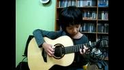 Невероятно! Малко дете свири страхотно на китара ( Mad World)