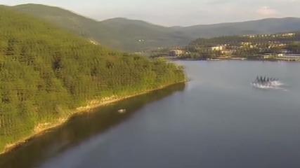 Чудовище в панчаревското езеро от високо - real or fake