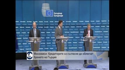 Московиси: Кредиторите са съгласни да облекчат бремето на Гърция