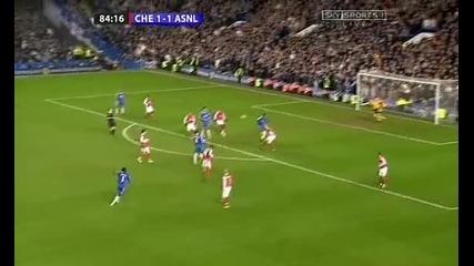 гола на Майкъл Есиен срещу Арсенал